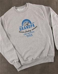 gifts: Personalised Golf Title Sweatshirt!
