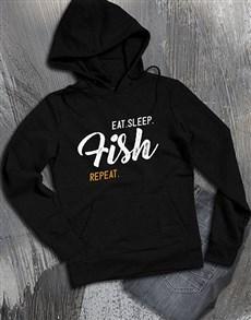 gifts: Personalised Eat Sleep Repeat Hoodie!
