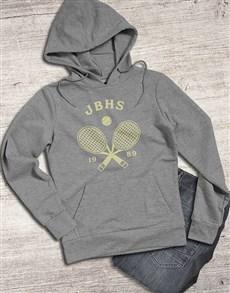 gifts: Personalised Tennis Racket Hoodie!