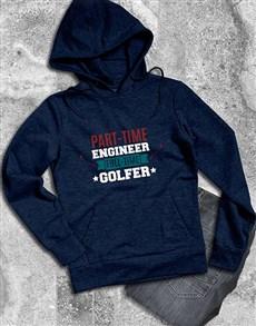gifts: Personalised Full Time Golfer Hoodie!