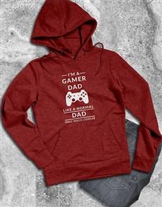 gifts: Personalised Cool Gamer Dad Hoodie!