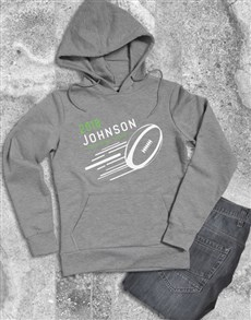 gifts: Personalised Rugby Ball Hoodie!