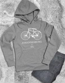 gifts: Personalised Bicycle City Hoodie!