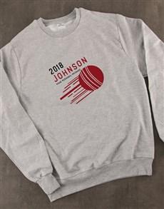 gifts: Personalised Cricket Sweatshirt!