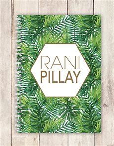 gifts: Personalised Fern Leaf Notebook!