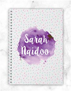 gifts: Personalised Watercolour Notebook!