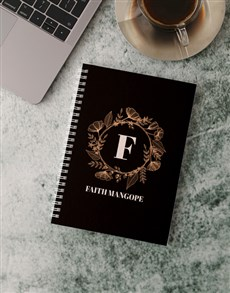 gifts: Personalised Gold Wreath Notebook!