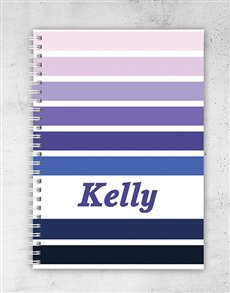 gifts: Personalised Rainbow Notebook!