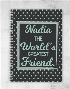 gifts: Personalised Dotted Greatest Friend Notebook!