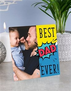gifts: Personalised Best Dad Glass Tile!