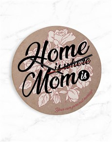 gifts: Personalised Home Is Where Mom Is Clock!
