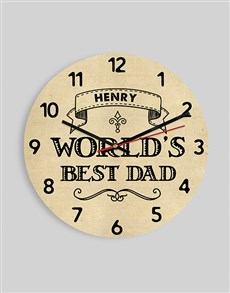gifts: Personalised Worlds Best Dad Clock!