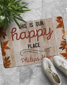 gifts: Personalised Happy Place Doormat!