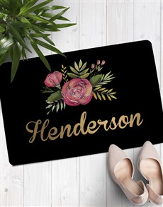gifts: Personalised Floral Family Name Doormat!