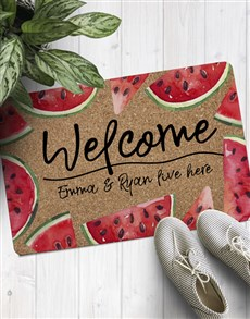 gifts: Personalised Welcome Watermelon Doormat !