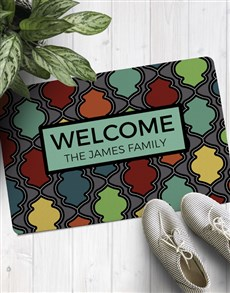 gifts: Personalised Colourful Family Doormat!