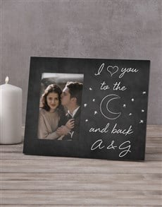 gifts: Personalised To the Moon & Back Photo Frame!