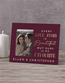 gifts: Personalised Every Love Story Photo Frame!