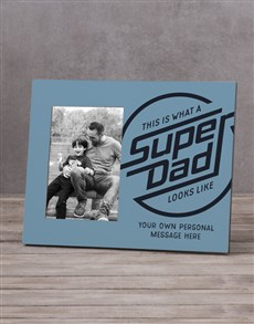 gifts: Personalised Super Dad Photo Frame!