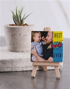 gifts: Personalised Best Dad Ever Mini Canvas!