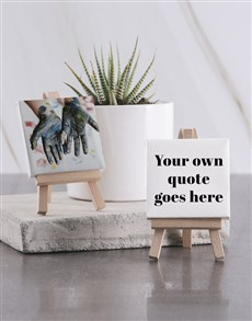 gifts: Personalised Your Photo And Quote Mini Canvas!