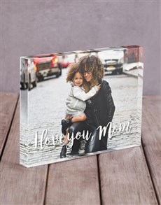 gifts: Personalised I Love You Mom Acrylic Block!