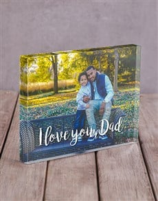 gifts: Personalised I Love You Dad Acrylic Block !