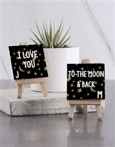 gifts: Personalised I Love You Mini Canvas !