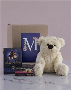gifts: Personalised Teddy and Nougat Initialised Gift!