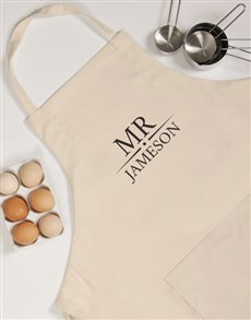 gifts: Personalised Mr Apron!