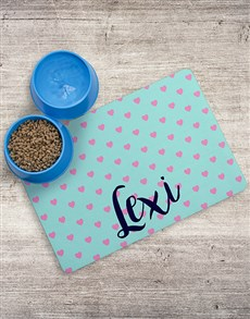 gifts: Personalised Hearty Placemat And Bowls!
