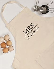 gifts: Personalised Mrs Apron!