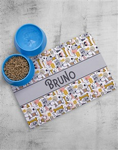 gifts: Personalised Treats Placemat And Bowls!