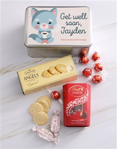 gifts: Personalised Get Well Gourmet Tin!