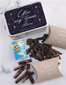 gifts: Personalised Moon And Stars Snack Tin!