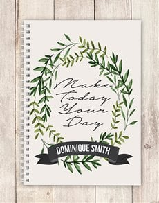 gifts: Personalised Make Today Notebook!