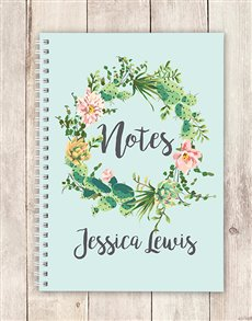 gifts: Personalised Festive Wreath Notebook!
