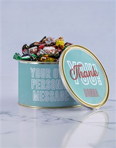 gifts: Personalised Thank You Chocolate Passions Tin!