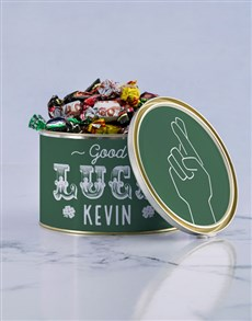 gifts: Personalised Good Luck Chocolate Passions Tin!