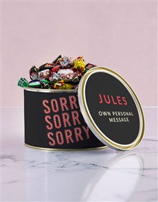 gifts: Personalised Sorry Chocolate Passions Tin!