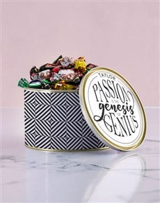 gifts: Personalised Genius Chocolate Passions Tin!
