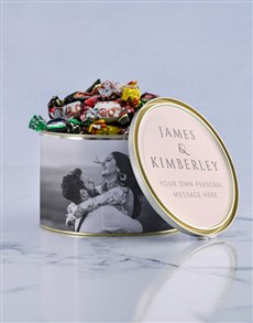 gifts: Personalised Love Birds Chocolate Passions Tin!