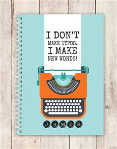 gifts: Personalised New Words Notebook!