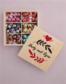 gifts: Personalised Leaf With Love Box Of Chocs!