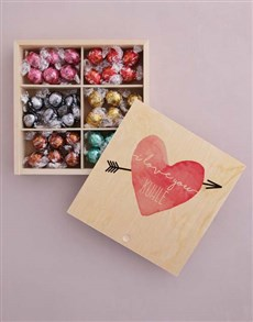 gifts: Personalised Heart And Arrow Box Of Chocs!