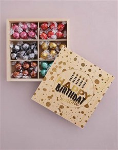 gifts: Personalised Gold Birthday Box Of Chocs!