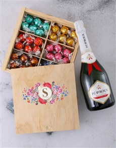 gifts: Personalised Floral Initial Box Of Chocs!