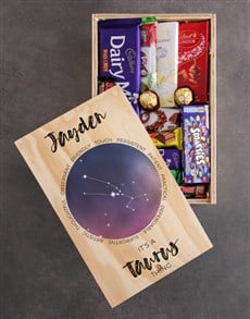 gifts: Personalised Star Sign Chocolate Crate!