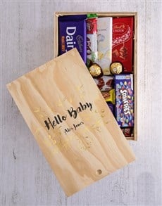 gifts: Personalised Hello Baby Chocolate Crate!
