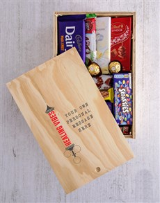 gifts: Personalised Healing Vibes Printed Chocolate Crate!